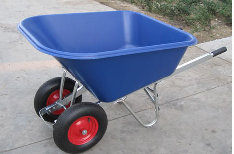 WB9600 wheelbarrow , double wheels